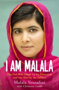 I Am Malala book cover with headshot of Malala Yousafzai