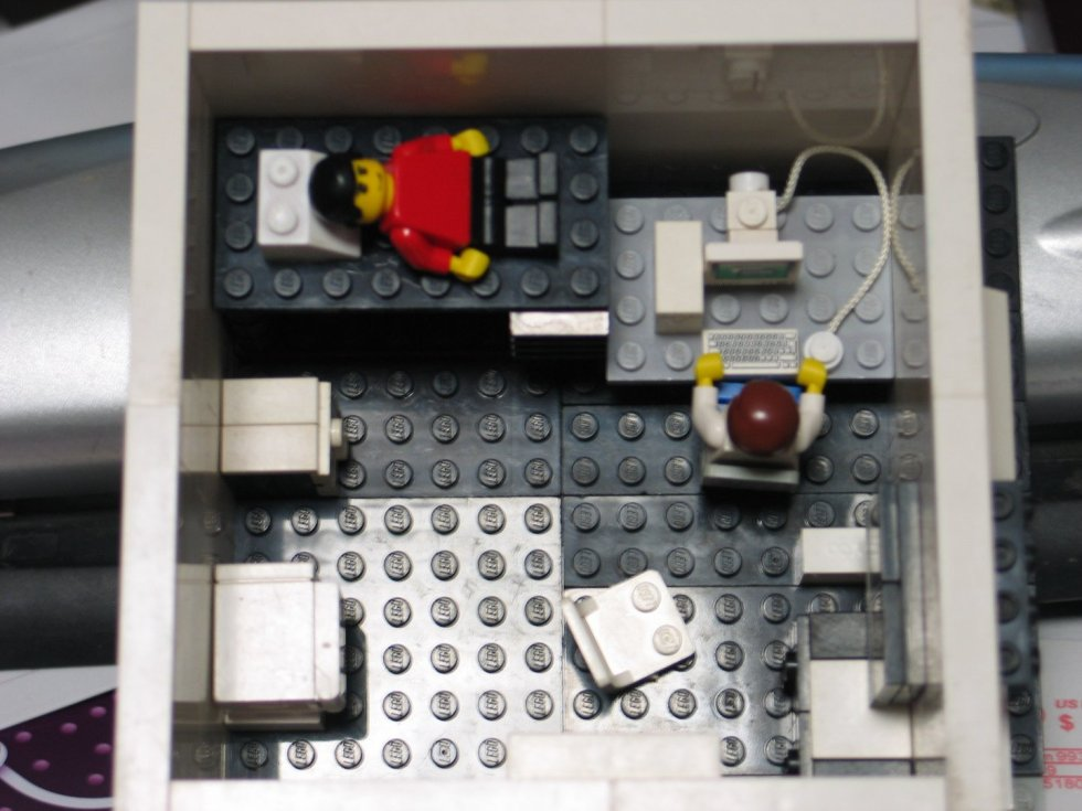 Lego model of a college dorm room