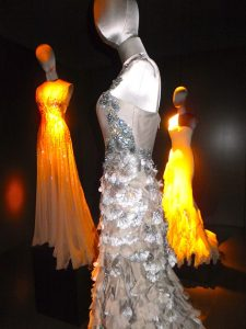 Original Gucci dresses worn to the Oscars at the Gucci Museum