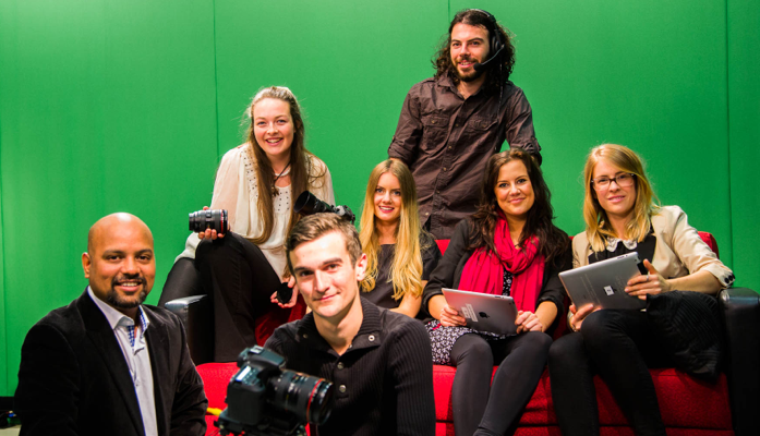Students Jaime-Maree Kelly, Christopher Wedlock, Melissa Wilson, Joshua King, Elliana Lawford and Tayla Angel will spend two weeks interning with lecturer Dr Vikrant Kishore and |   Image: Vikrant Kishore